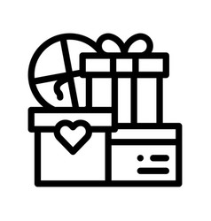 wedding presents for married couple icon vector image