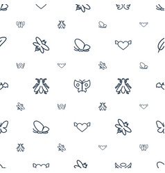 Wing icons pattern seamless white background vector