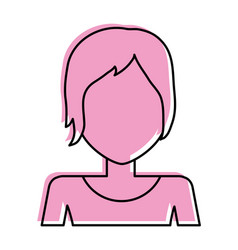 Woman with pixie haircut avatar icon image vector