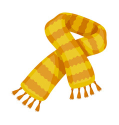 yellow striped wool scarfscarves and shawls vector image