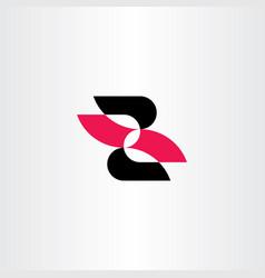 z letter red black symbol sign icon element vector image