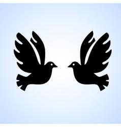 Black bird isolated vector image