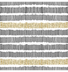 Black Gold Lines Seamless Pattern vector image vector image