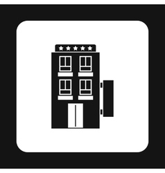 Hotel 5 stars icon simple style vector image