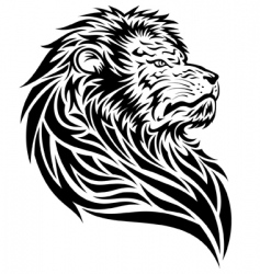 lion tattoo vector image