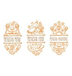 Mexican food sign set vector