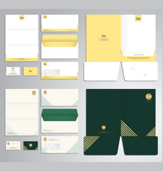 modern stationery set pattern and template vector image vector image