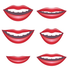 Mouths vector image vector image