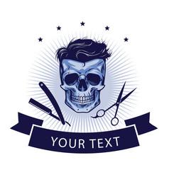 Barbershop logo template design vector