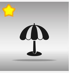 beach umbrella black icon button logo symbol vector image vector image