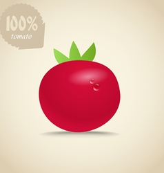 Cute red tomatoes vector