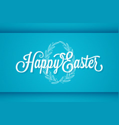 easter vintage lettering egg ornament background vector image vector image