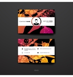 Set of design business card template in dna vector