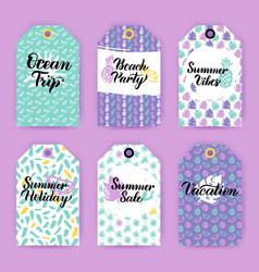 summer trendy gift labels vector image vector image