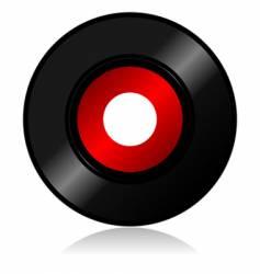 vinyl record with shadow vector image vector image