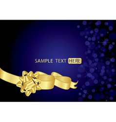 background with gold bow vector image vector image