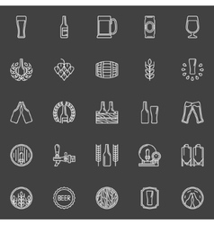 Brewery and beer icons vector image vector image
