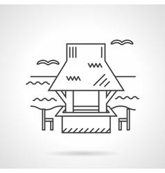 Coast gazebo thin line design icon vector image