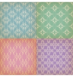 Set of seamless with graphic patterns vector image