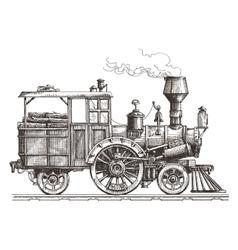 Steam locomotive logo design template vector