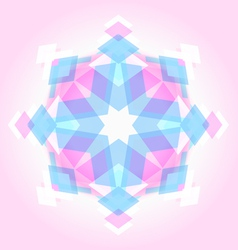 Abstract geometric snowflak vector image