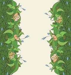 flora frame4 01 vector image