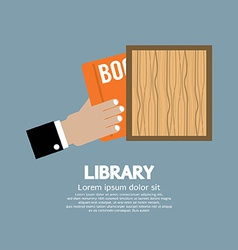 Hand Draw A Book From Shelf vector image vector image