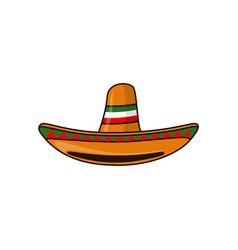 Mexican sambrero feast for cinco de mayo hand vector