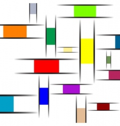 Mondrian abstract texture vector image