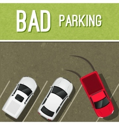 Parking scene poster vector image