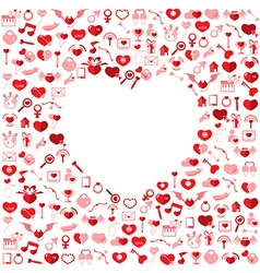 The Heart Valentines day Love icon vector image vector image
