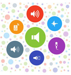 7 voice icons vector image