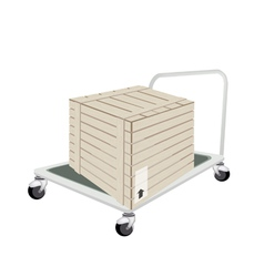 A Hand Truck Loading A Shipping Box vector image vector image