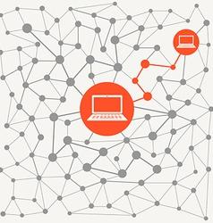 Abstract scheme modern computer network vector