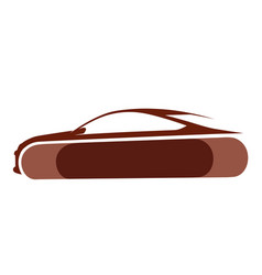 auto logo with brown background vector image