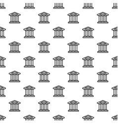 bank building pattern seamless vector image