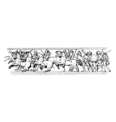 Bas-relief is a part of the triumphal entrance vector
