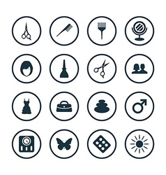Beauty salon icons universal set vector