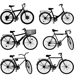 Bicycle pictogram set 2 vector