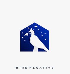Bird with house design concept template vector
