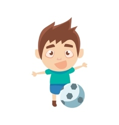 Boy Sportsman Playing Football Part Of Child vector image