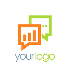 business chat talk logo vector image