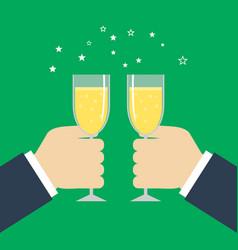 business success celebration hands holding vector image