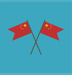 china flag icon in flat design vector image