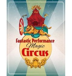 Circus retro poster vector