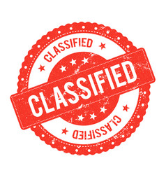 Classified file seal certificate vector