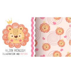 cute balion - seamless pattern vector image