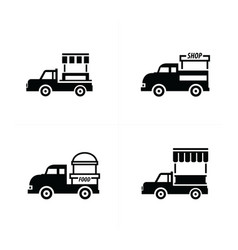 Design mobile food car icons vector
