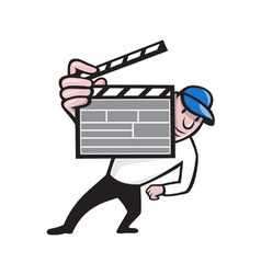 Director With Movie Clapboard Cartoon vector