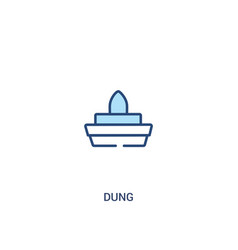 Dung concept 2 colored icon simple line element vector